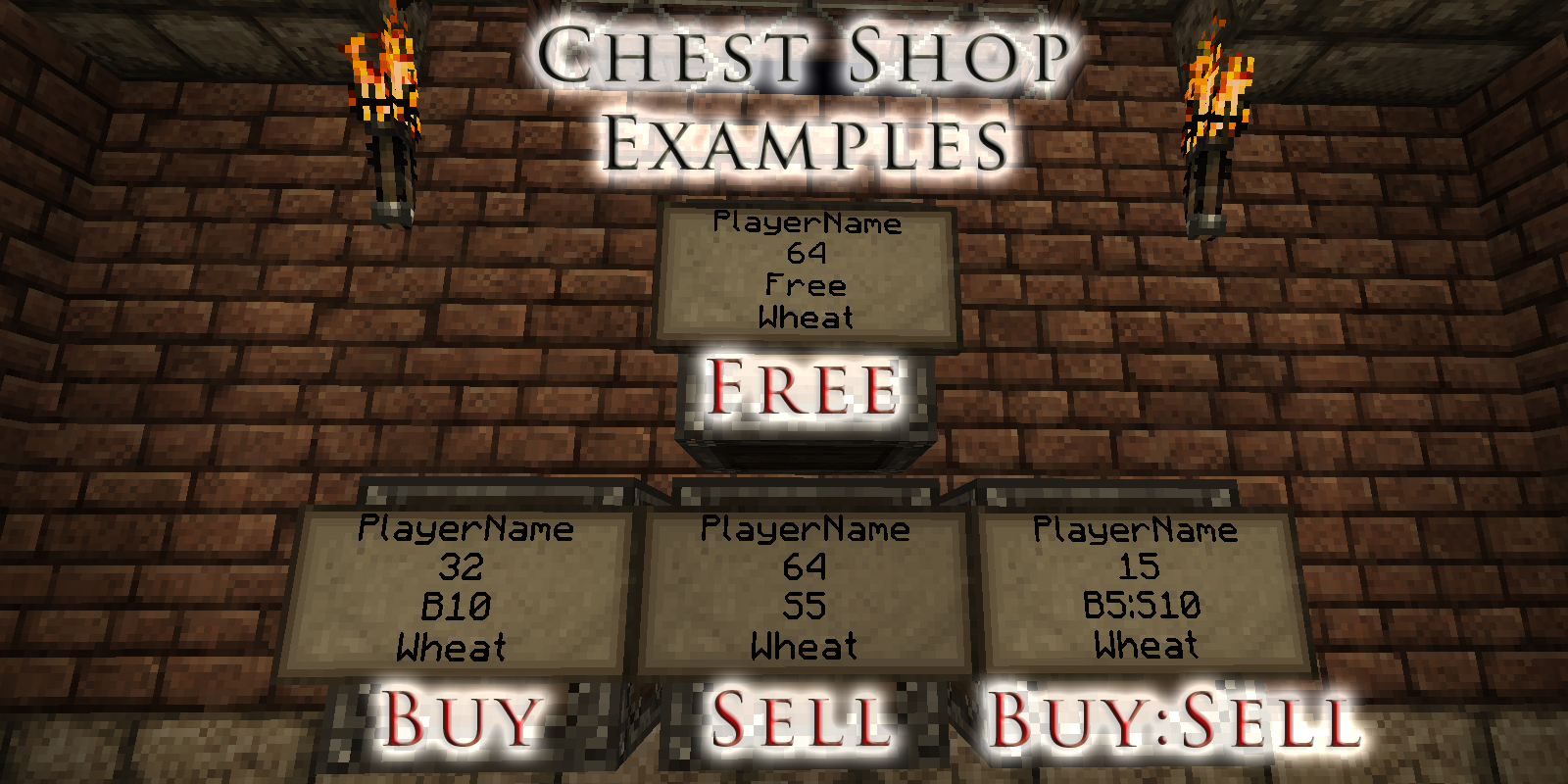 Chest Shop Examples
