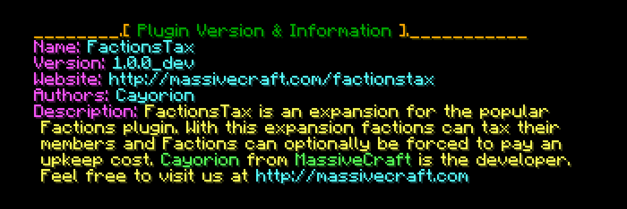 factionstax-command-version