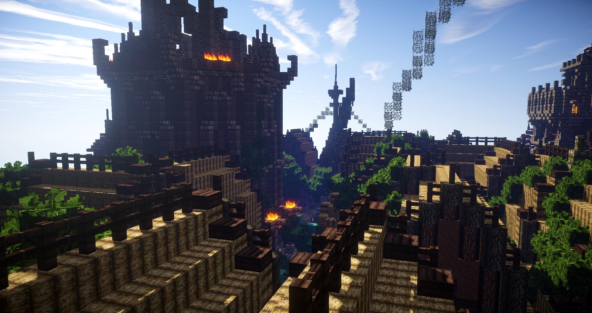 Elven slums.